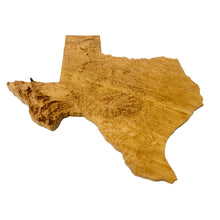 Image of a wooden topographic map of Texas