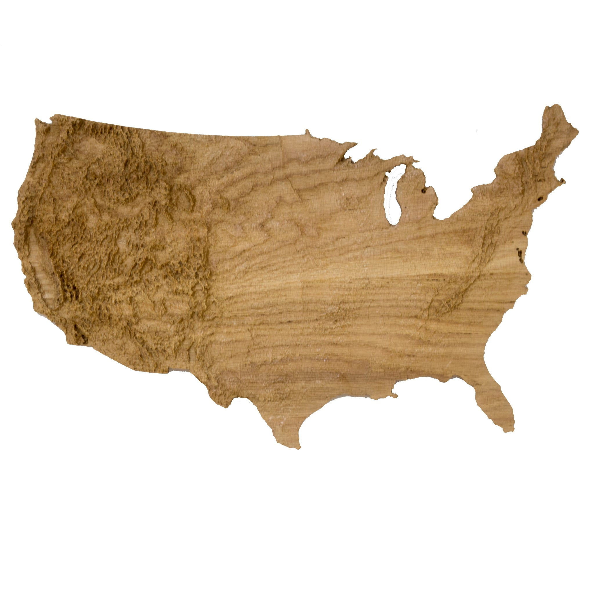 Wooden Topographic Map Of The Continental Us Elevated Woodworking