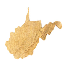 Image of a wooden topographic map of West Virginia