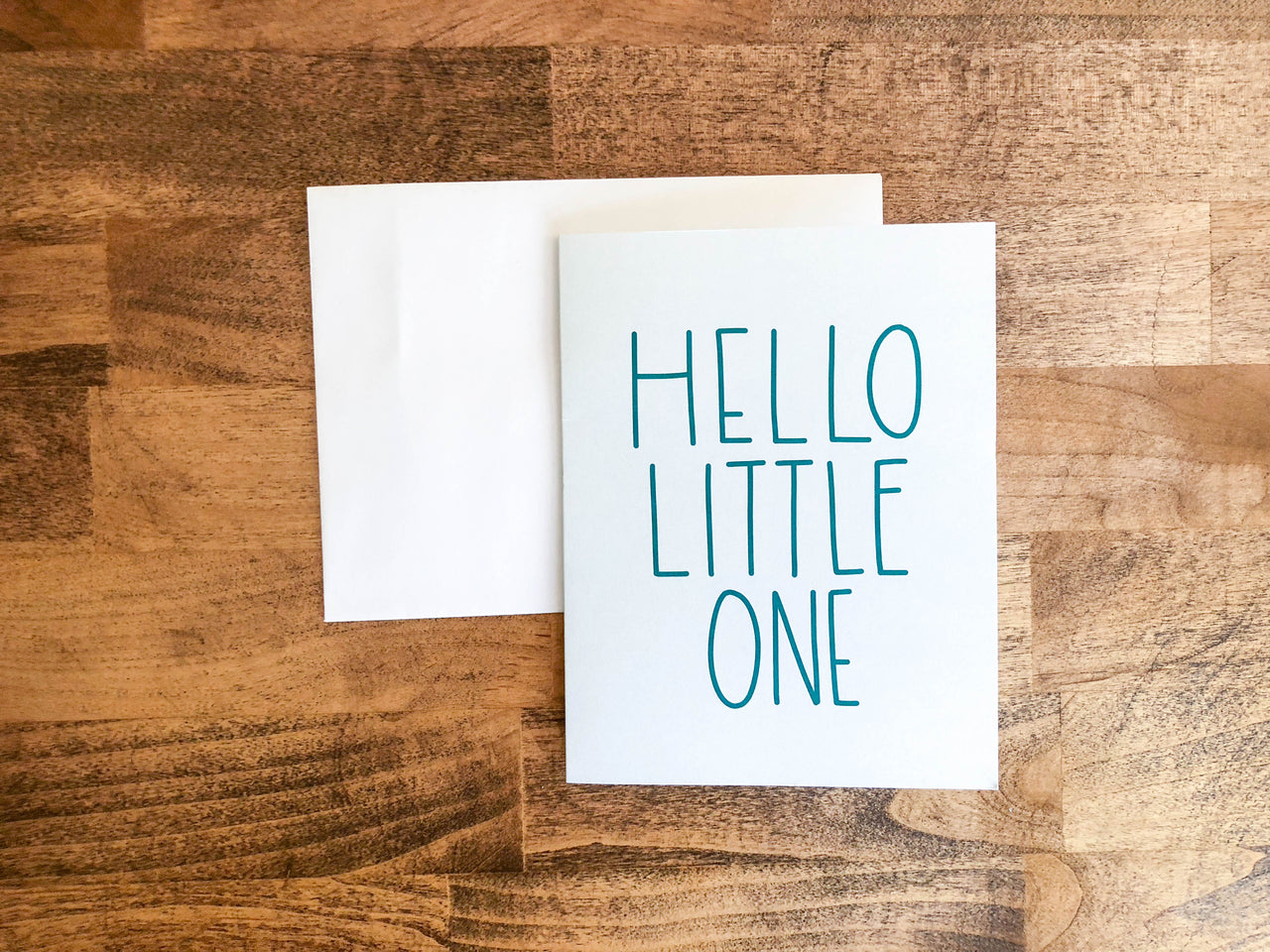 Hello Little One A2 Card - Brown Paper Fox