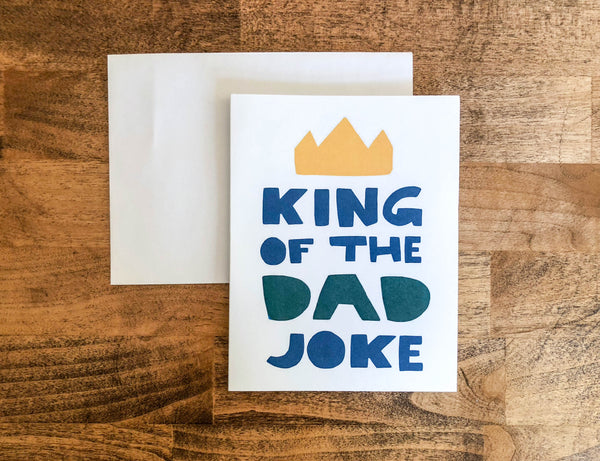 King of the Dad Joke Father's Day A2 Card - Brown Paper Fox