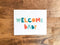 Welcome Baby A2 Card - Brown Paper Fox