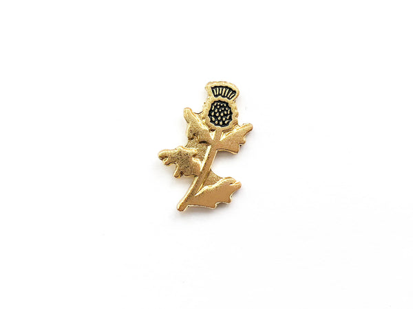 Scottish Thistle Soft Enamel Pin - Brown Paper Fox