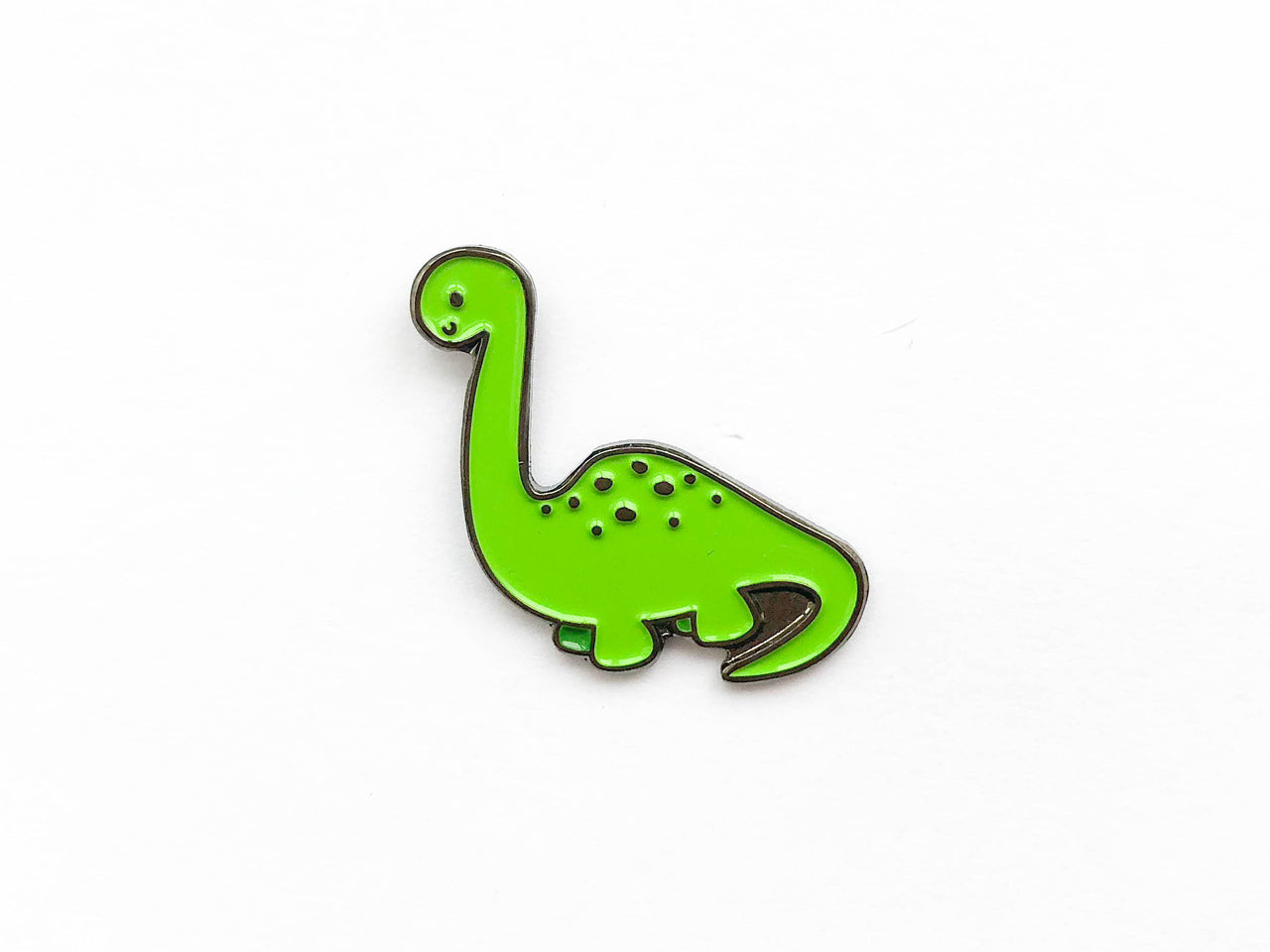 Brachiosaurus Dinosaur Soft Enamel Pin - Brown Paper Fox