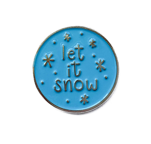 Let It Snow Soft Enamel Pin - Brown Paper Fox