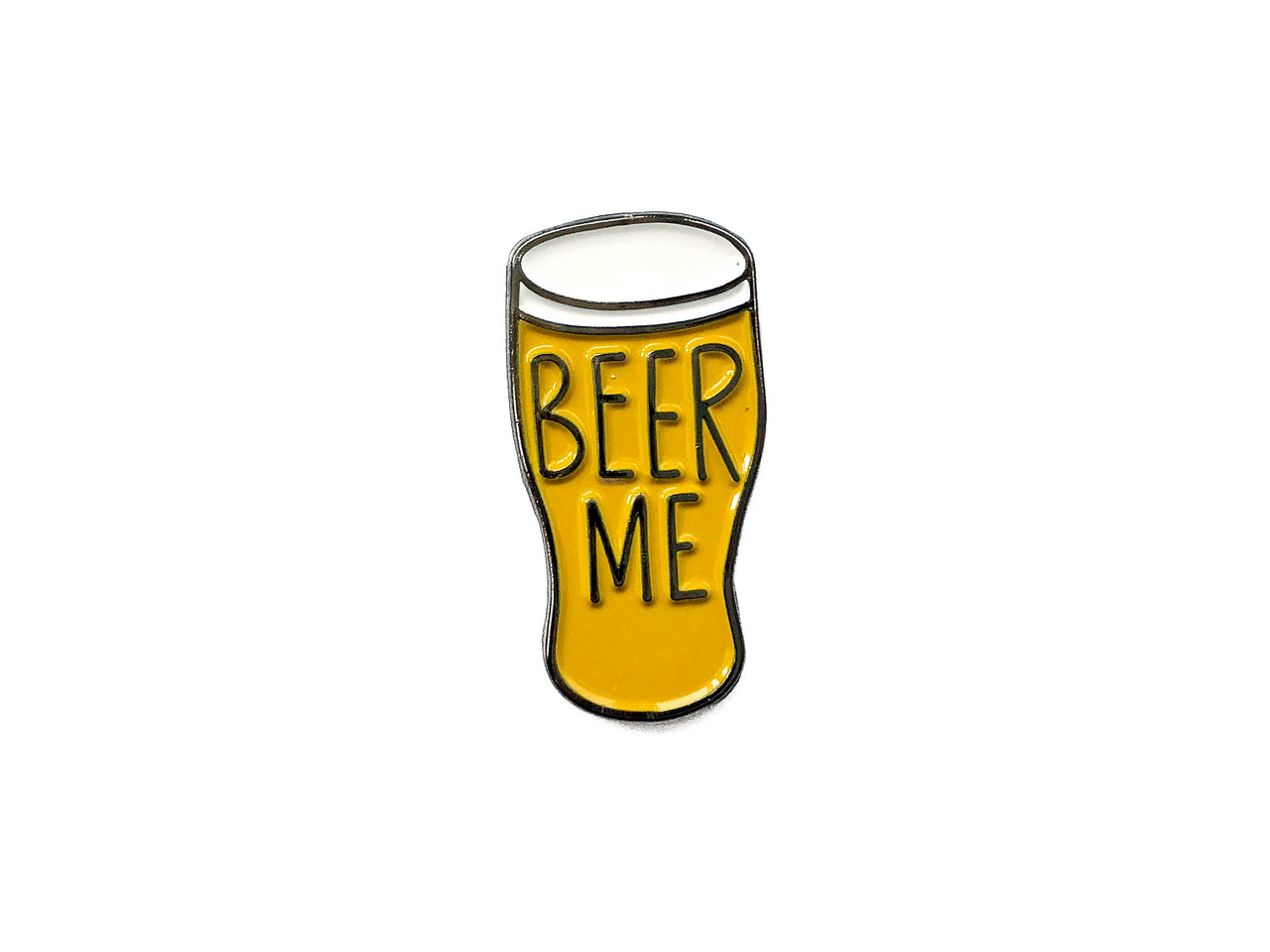Beer Me Soft Enamel Pin - Brown Paper Fox