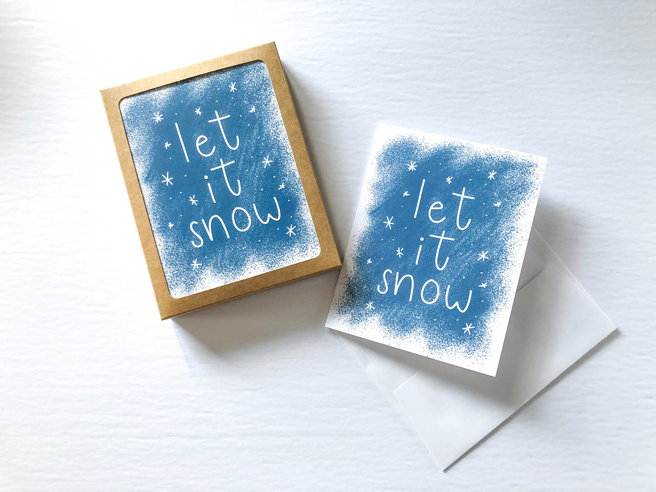 Let It Snow Christmas A2 Card Set (Set of 10) - Brown Paper Fox
