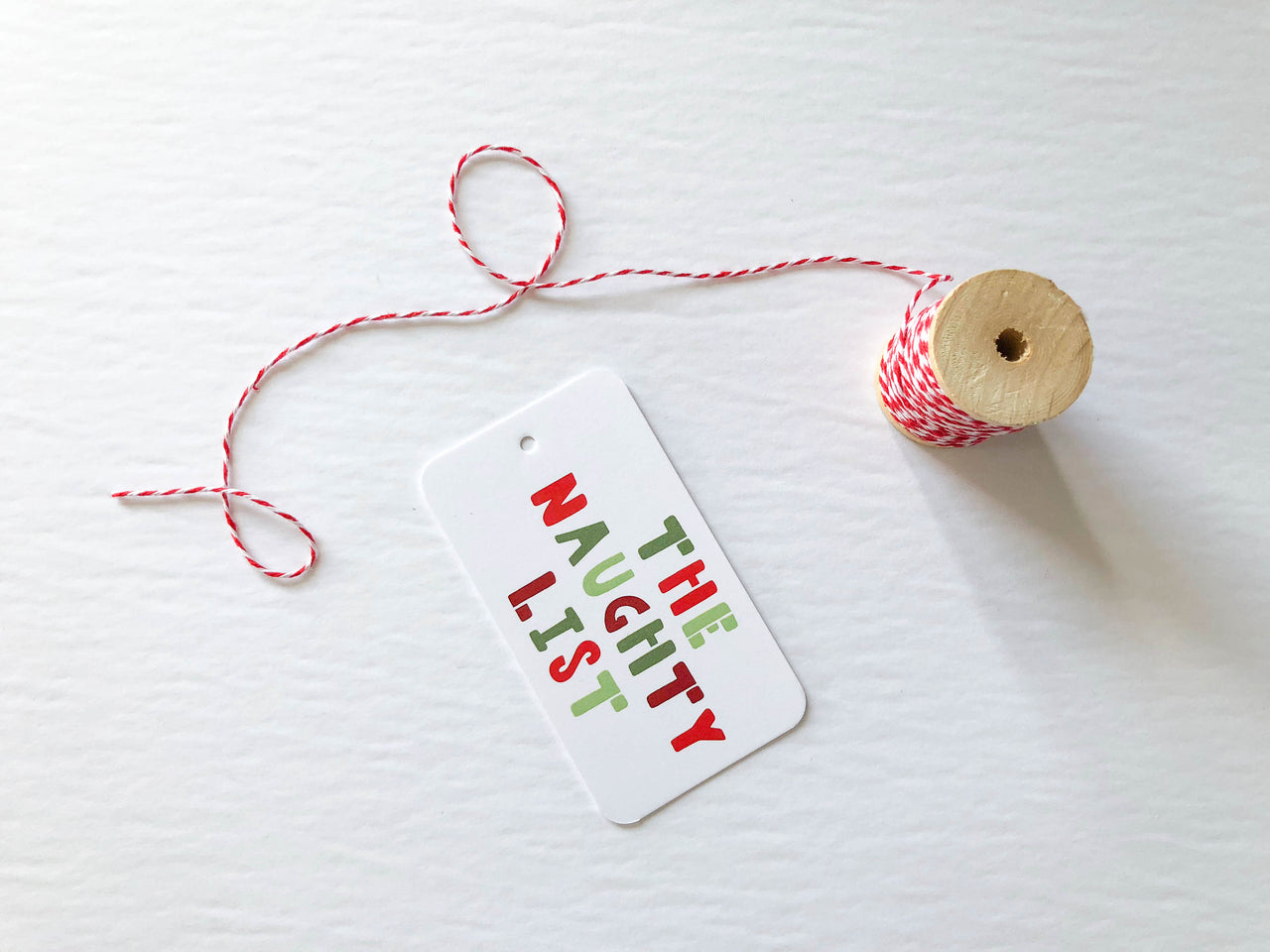 The Naughty List Gift Tags - Brown Paper Fox