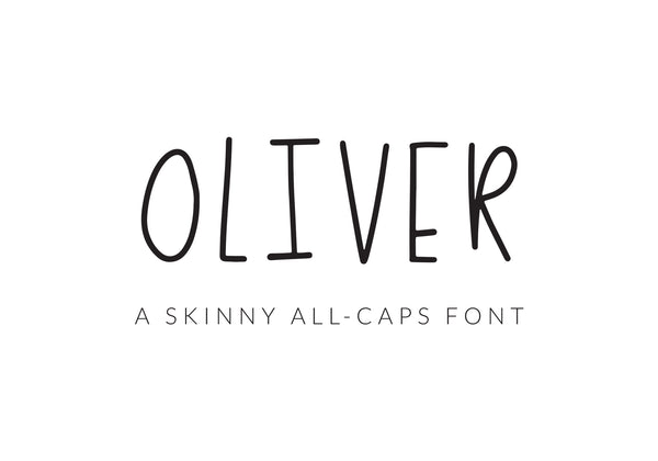 Oliver Skinny All-Caps Font - Brown Paper Fox