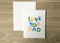 Love You Dad Father's Day A2 Card - Brown Paper Fox