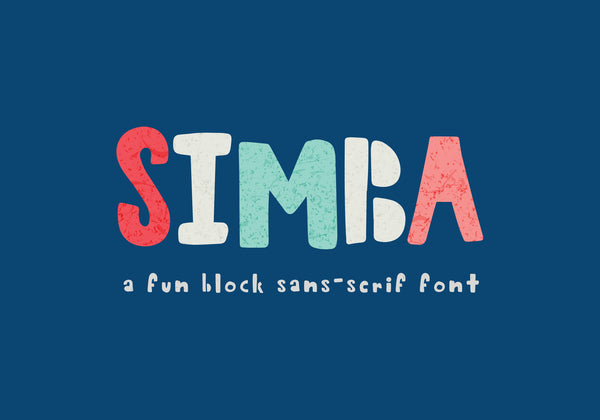 Simba Block Sans-Serif Font - Brown Paper Fox