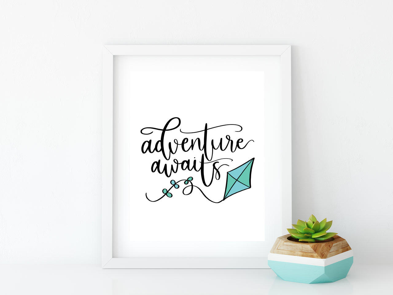 Adventure Awaits 8x10 Graphic Art Print - Brown Paper Fox