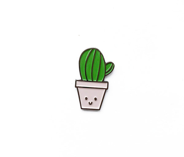 Cactus Soft Enamel Pin - Brown Paper Fox
