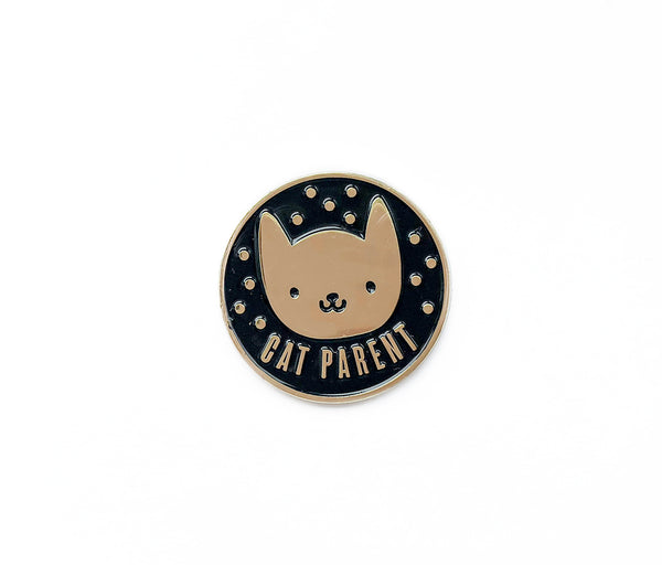 Cat Parent Soft Enamel Pin - Brown Paper Fox
