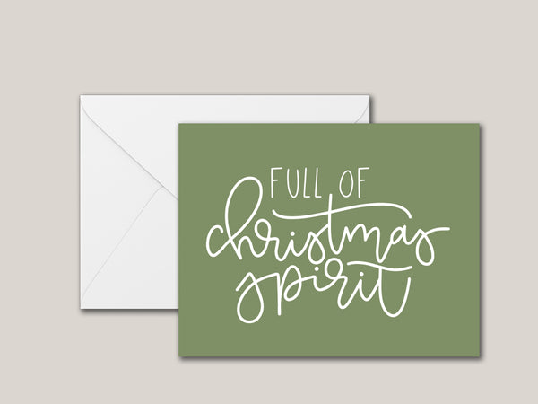 Full of Christmas Spirit Printable Card - Brown Paper Fox