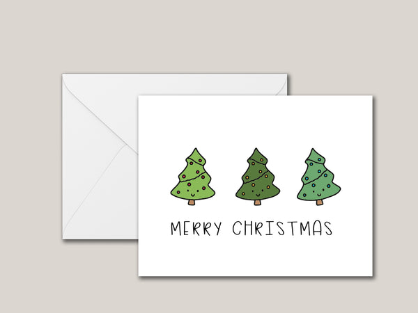 Adorable Christmas Tree Printable Card - Brown Paper Fox