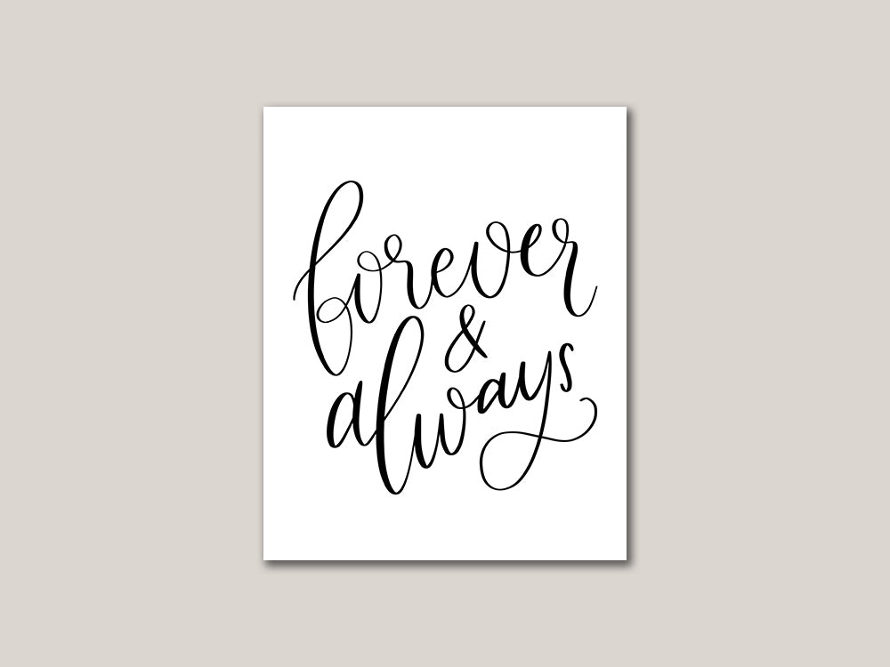 Forever and Always Valentines Day Digital Card - Brown Paper Fox