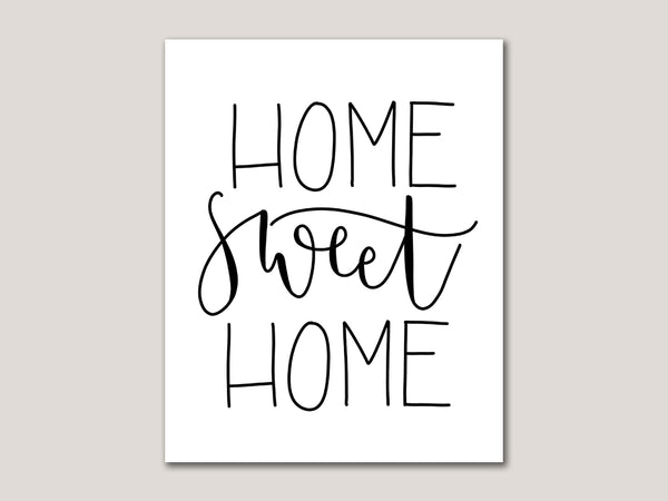 Home Sweet Home Digital 8x10 Print - Brown Paper Fox