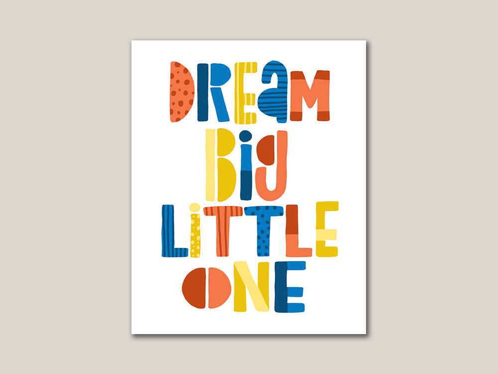 Dream Big Little One Digital 8x10 Print - Brown Paper Fox