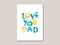 Love You Dad Digital Card - Brown Paper Fox