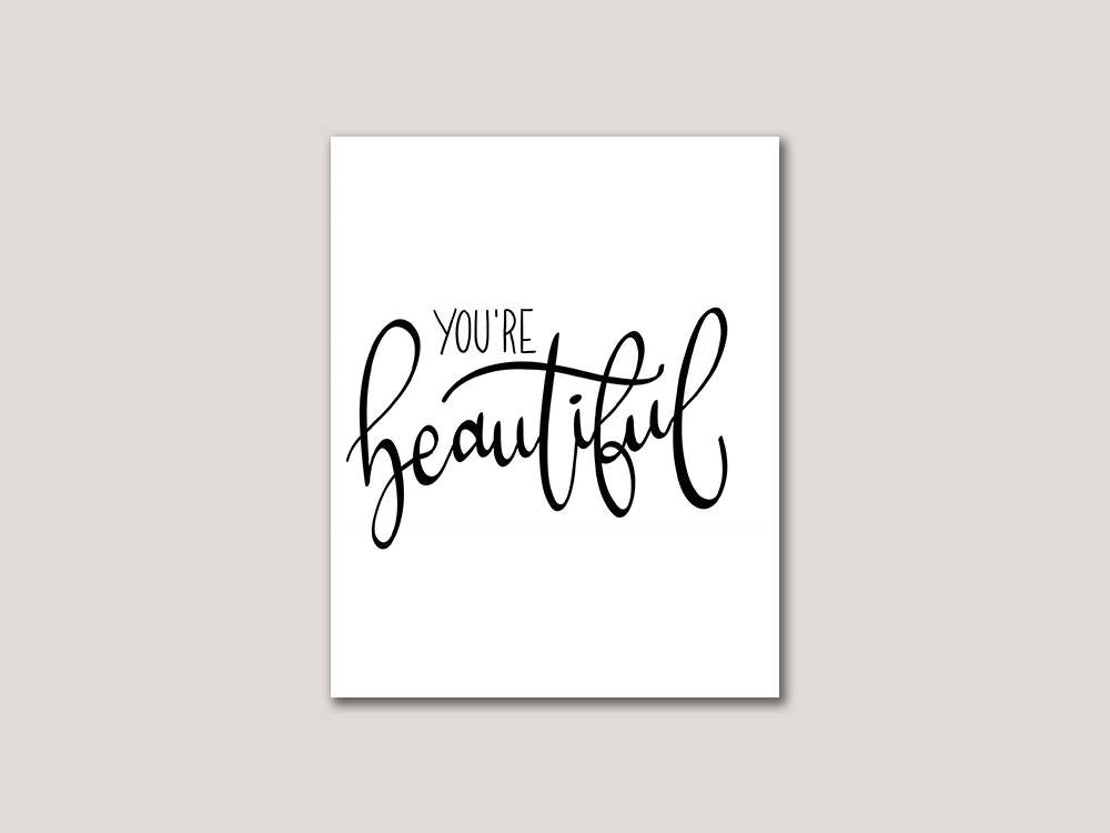 You're Beautiful Digital 8x10 Print - Brown Paper Fox