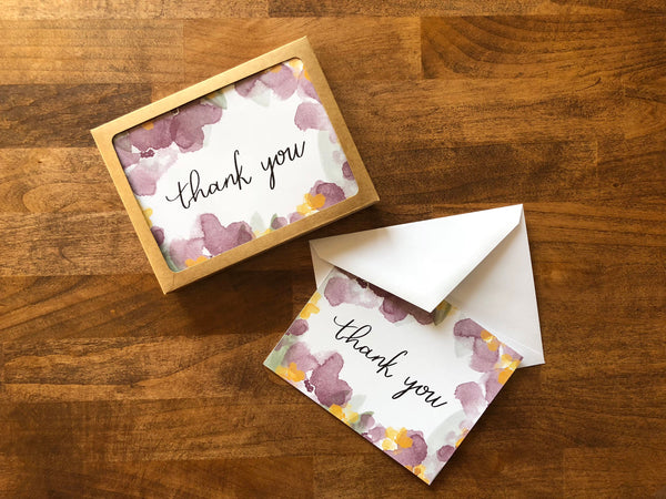 Thank You A2 Card Set - Brown Paper Fox