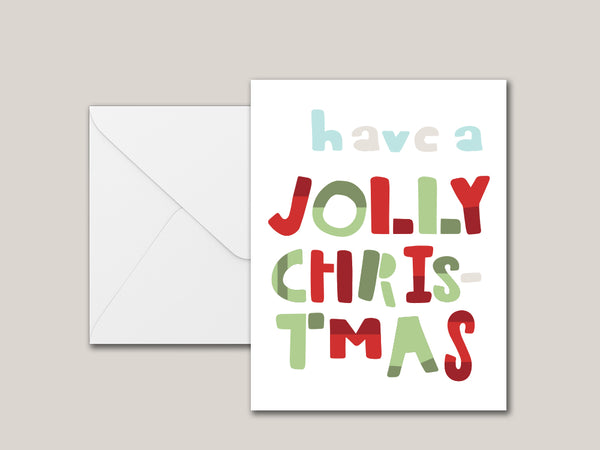 Have A Jolly Christmas Printable Card - Brown Paper Fox