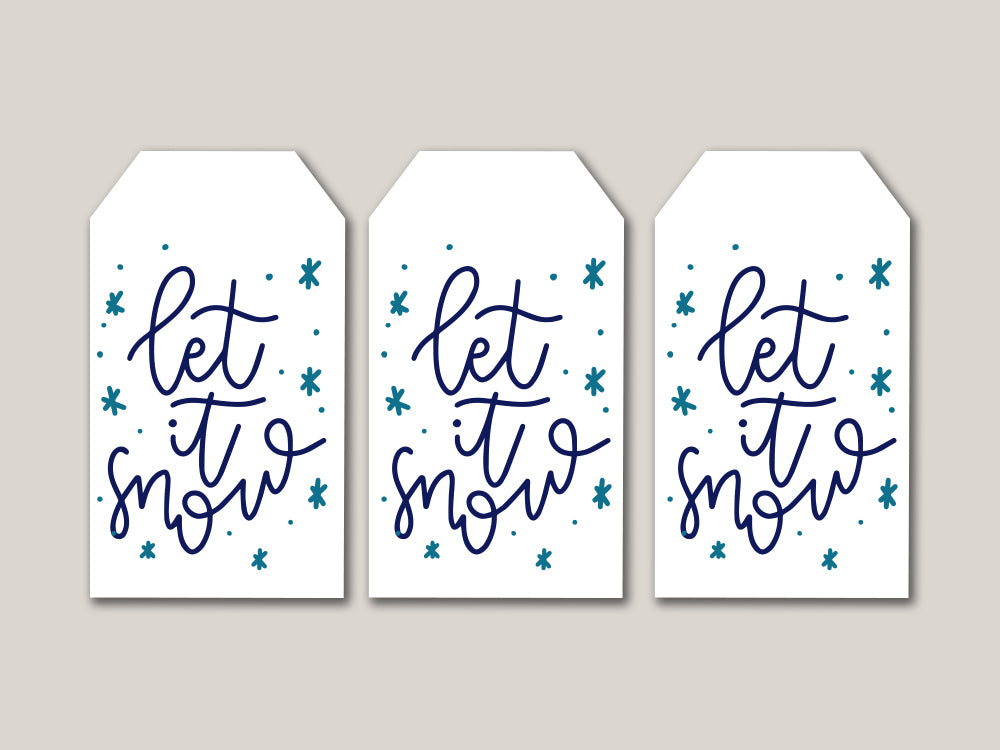 Let It Snow Printable Gift Tags - Brown Paper Fox
