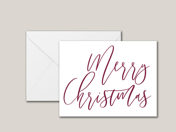 Merry Christmas (Elegant) Printable Card - Brown Paper Fox