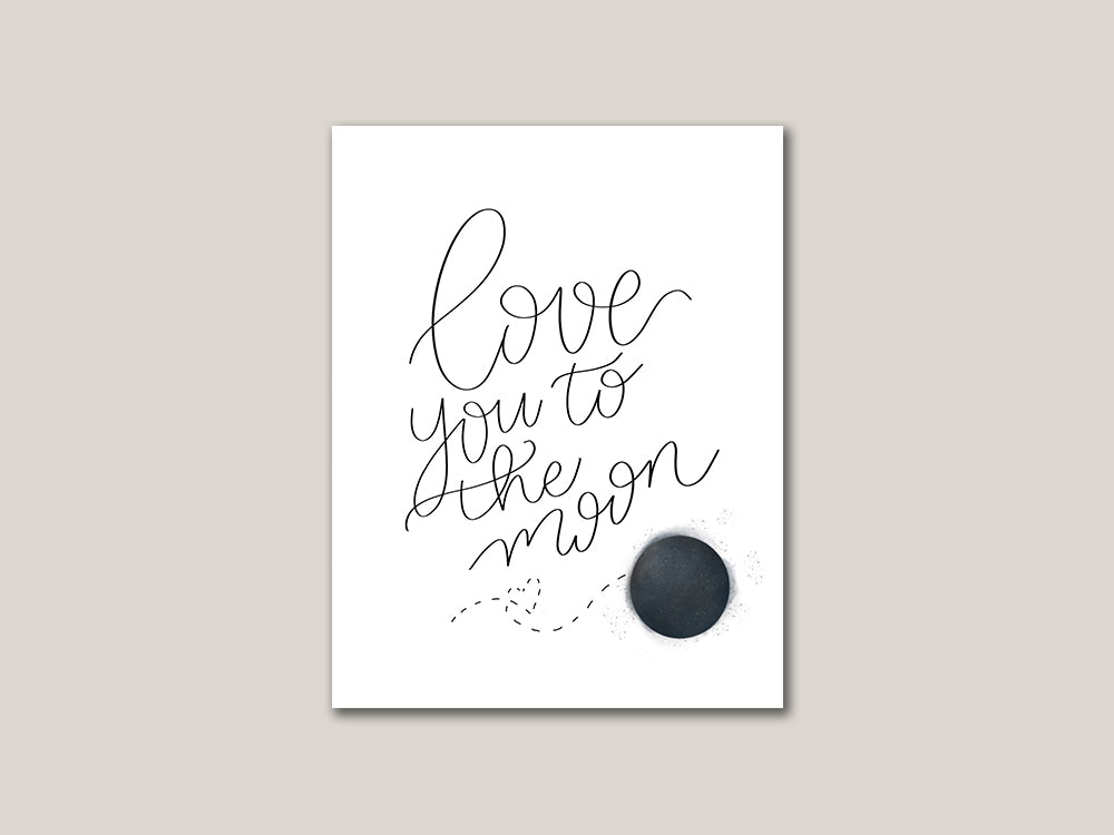 Love You To The Moon Valentines Day Digital Card - Brown Paper Fox