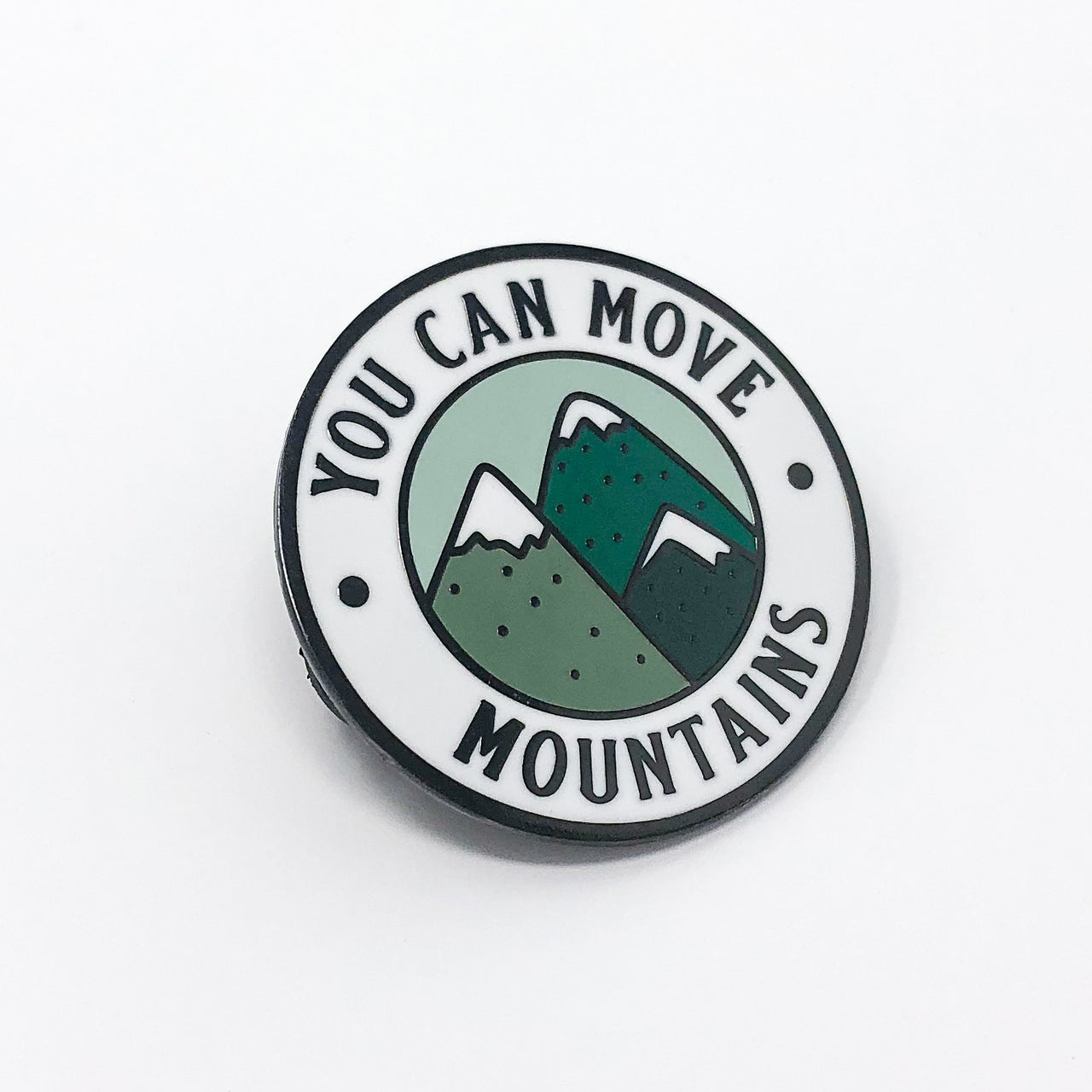 You Can Move Mountains Hard Enamel Pin - Brown Paper Fox