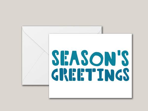 Season's Greetings Printable Card - Brown Paper Fox