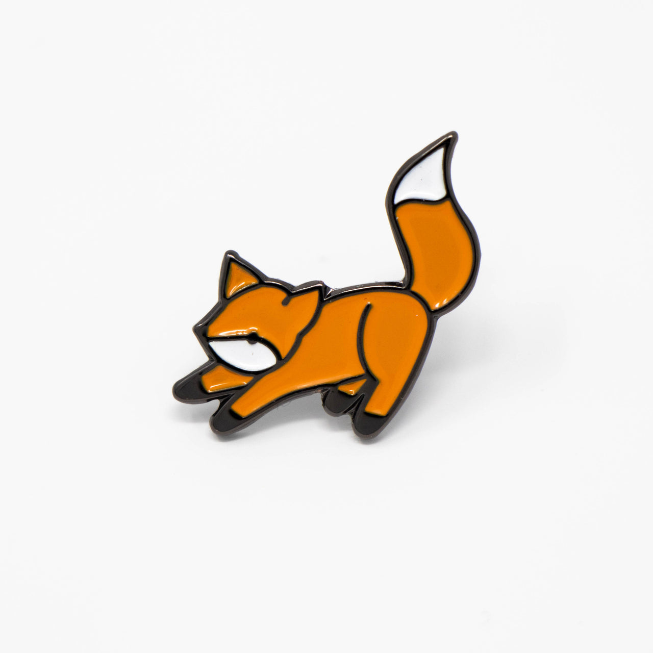 Fox Soft Enamel Pin - Brown Paper Fox