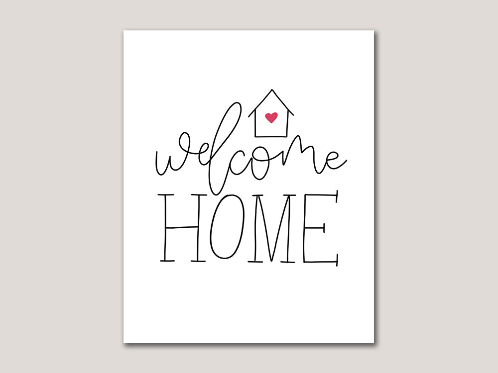 Welcome Home Digital 8x10 Print - Brown Paper Fox