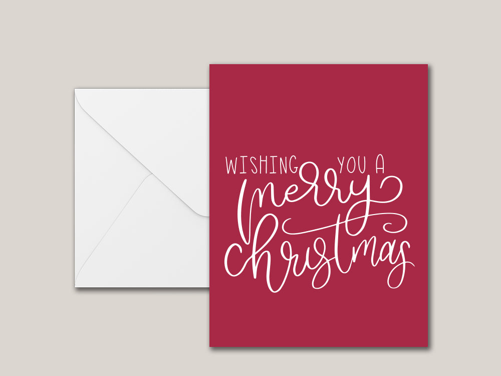Wishing You A Merry Christmas Printable Card - Brown Paper Fox