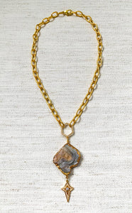 Moonbeam Druzy Necklace