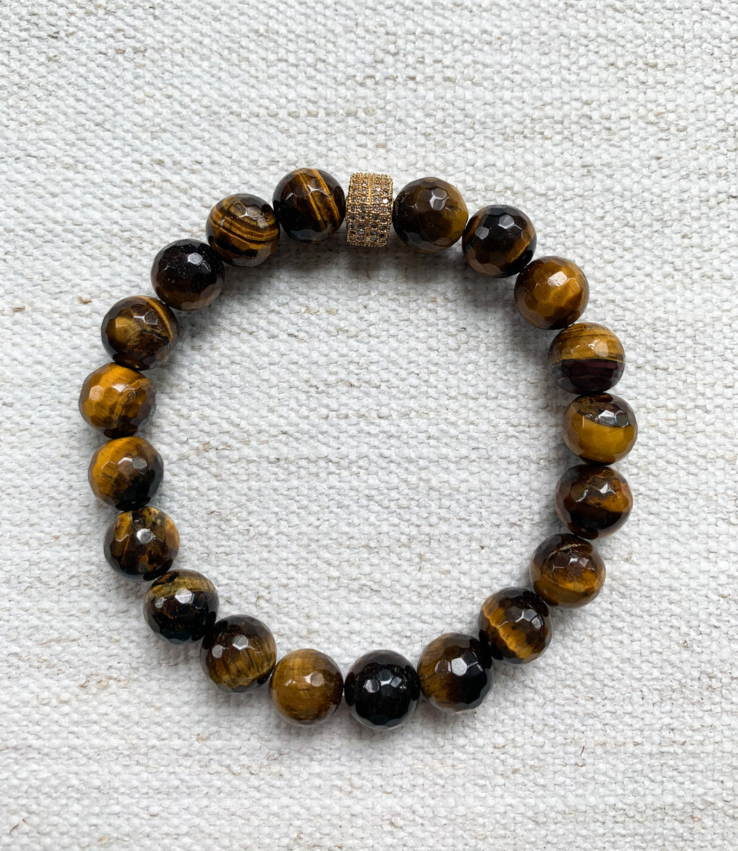 Tiger Eye w/ Pave Accent