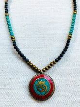 Multi Colored Om Necklace
