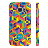 Bold geometric print phone case from London fine art based brand, David David.  Available for iPhone 6, 6S, 7, 7 Plus, 8, 8 Plus and Samsung Galaxy 6, 6 Edge, 7 and 7 Edge.