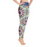 Yoga leggings, Carousel Fluro