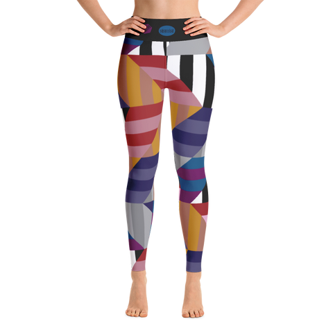 Yoga leggings, Chevron Jewel