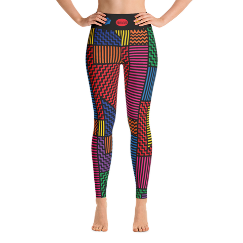 Yoga leggings, Memphis Bright