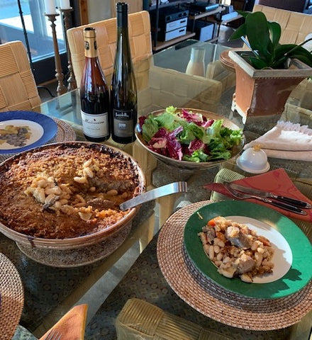 Cassoulet with vintage wine selection