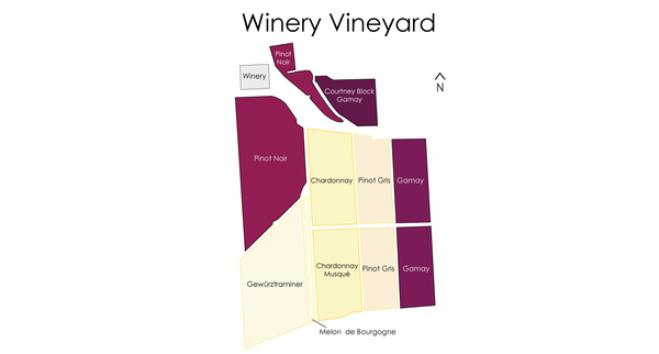 Estate Vineyard Map of Plantings