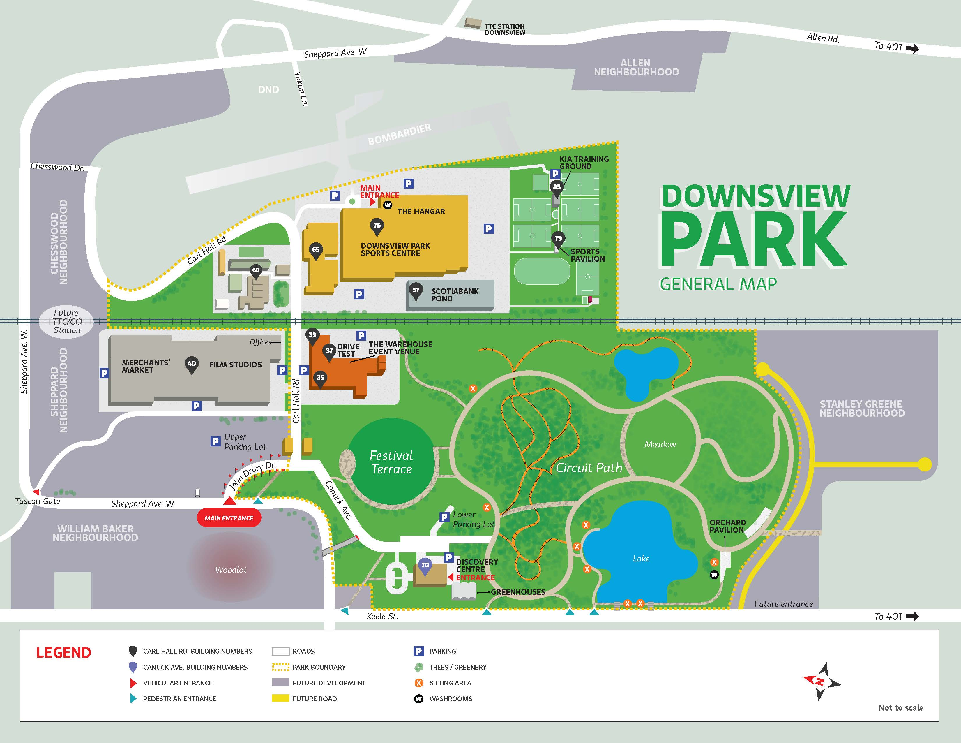 Map of Downsview Park - Toronto Sports Expo