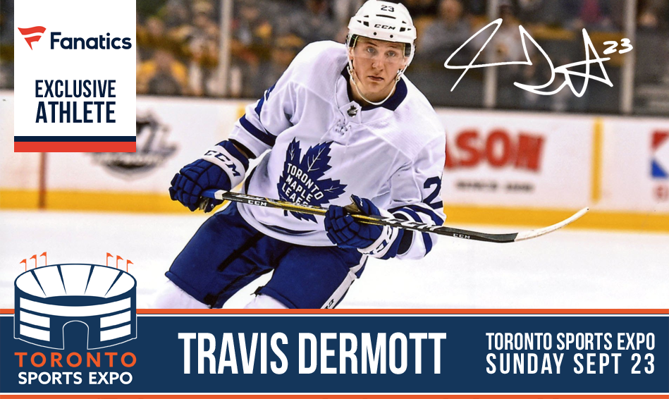 Travis Dermott - Signing at Toronto Sports Expo