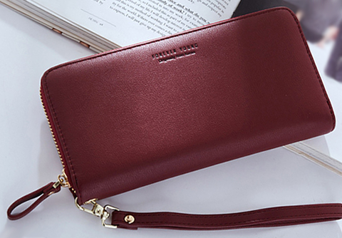 Women Organizer Clutch Red