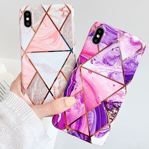 geometric-marble-phone-cases