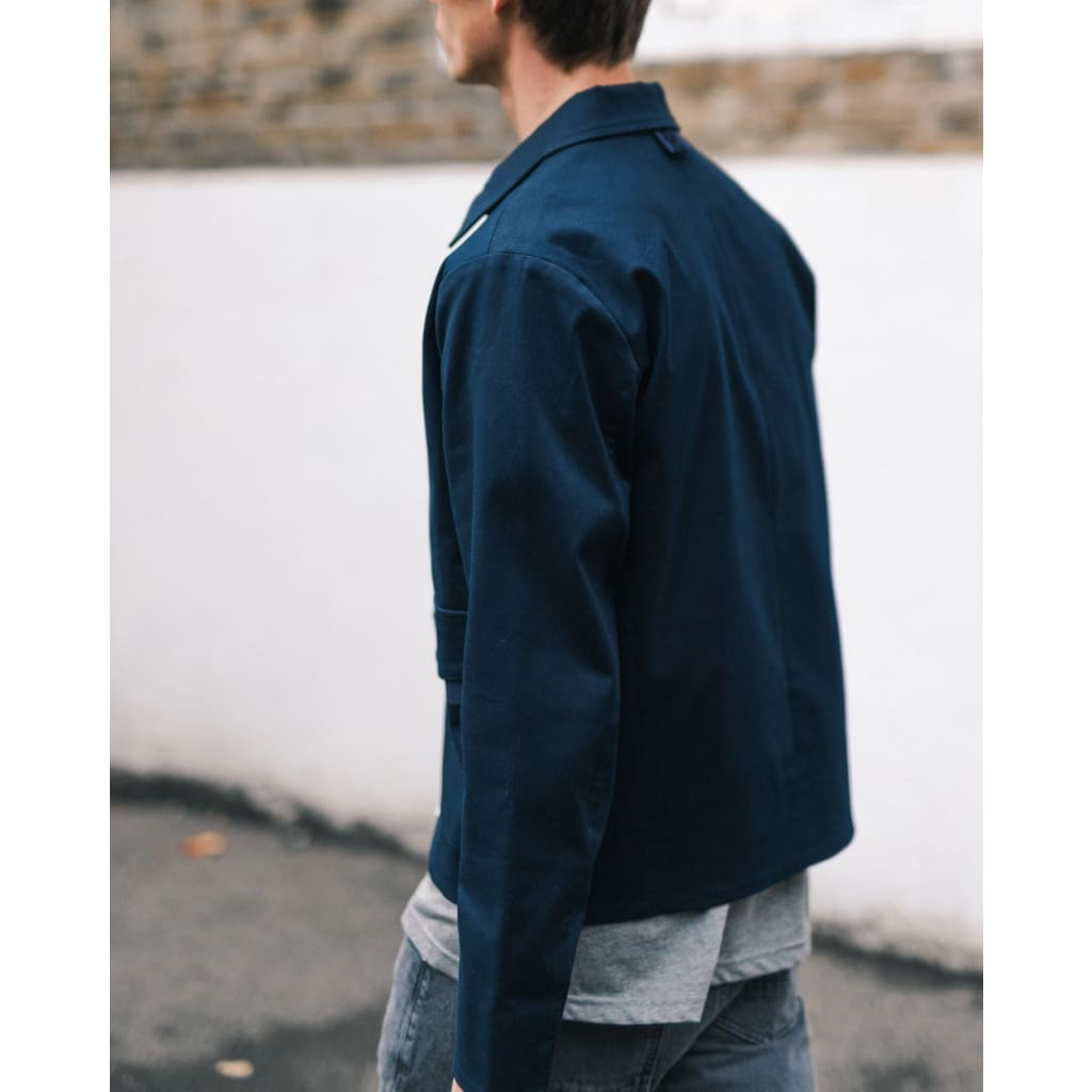 A2 ZIP in SATEEN NAVY - JKT - Natural Selection London