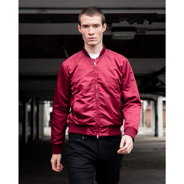 BEAGLE BOMBER in BEETROOT MA1 NYLON